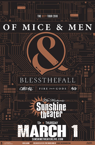 Of Mice & Men * blessthefall * Fire From The Gods * Cane Hill * MSCW