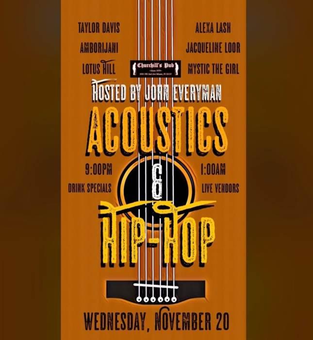 Acoustics and Hip Hop