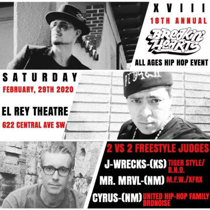 **18th Annual Breakin Hearts   All Ages Hip Hop Event**