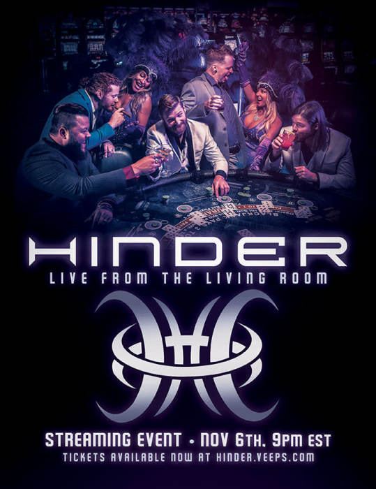"""Hinder """"Live From Your Living Room"""" Worldwide Streaming Event"""