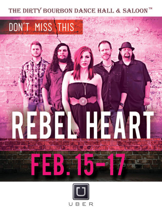 Rebel Heart Band Two Step Lessons 7-8pm @ The Dirty Bourbon, Dance Hall &  Saloon Albuquerque, NM - February 17th 2018 9:00 pm