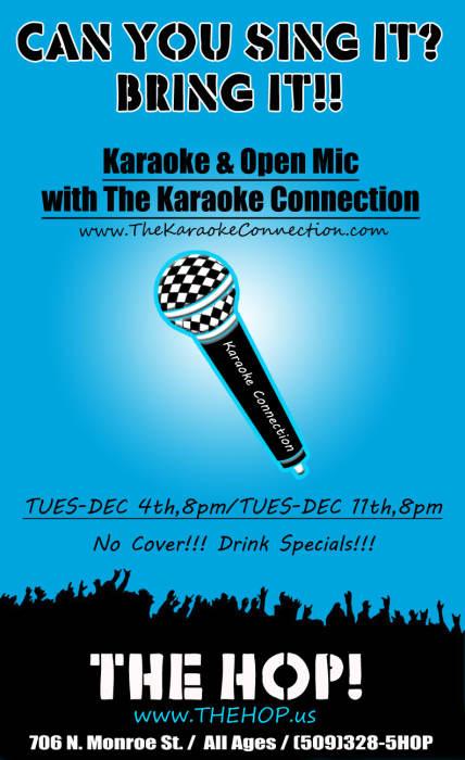 Karaoke/ Open Mic with the Karaoke Connection @ The HOP