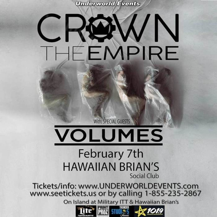 Crown The Empire, with Volumes