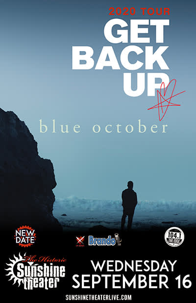 *** CANCELED *** Blue October - Get Back Up Tour