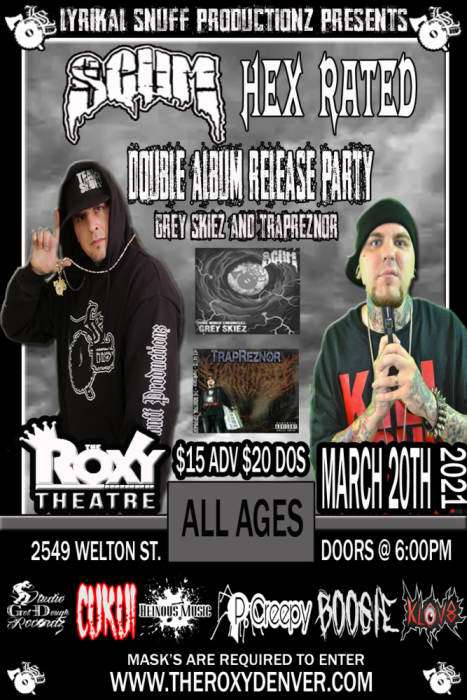 SCUM & HEX RATED Double Album Release Party