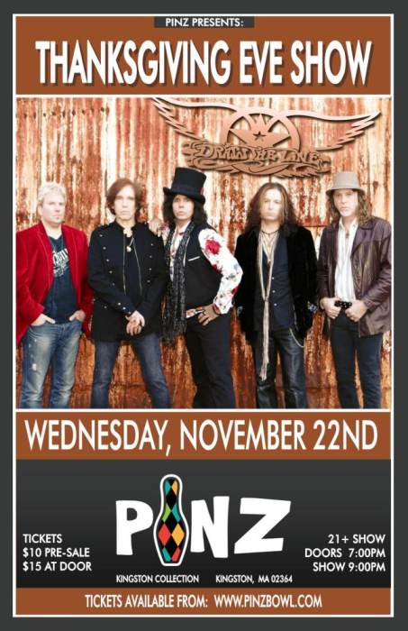Draw The Line Aerosmith Tribute Pinz Kingston Kingston Ma