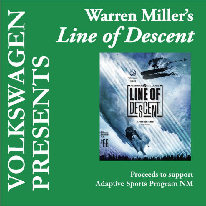 "Albuquerque Volkswagen: Warren Miller's ""Line Of Descent"" 68th Annual Feature Film"