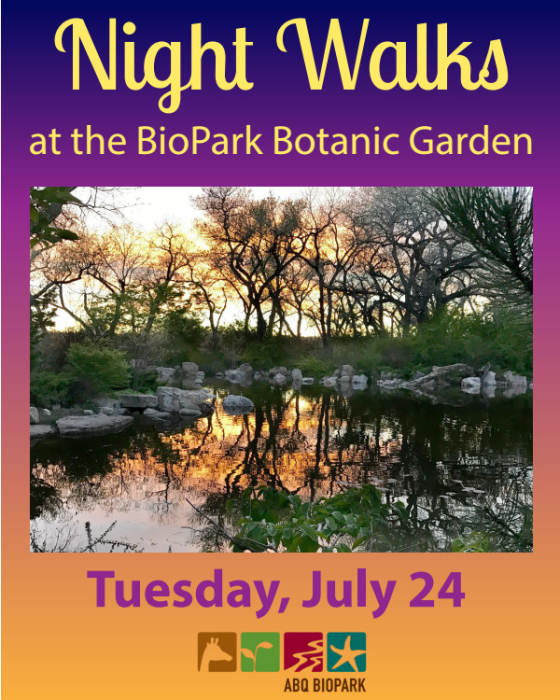 night walk at the bg july 24 - Abq Biopark Botanic Garden