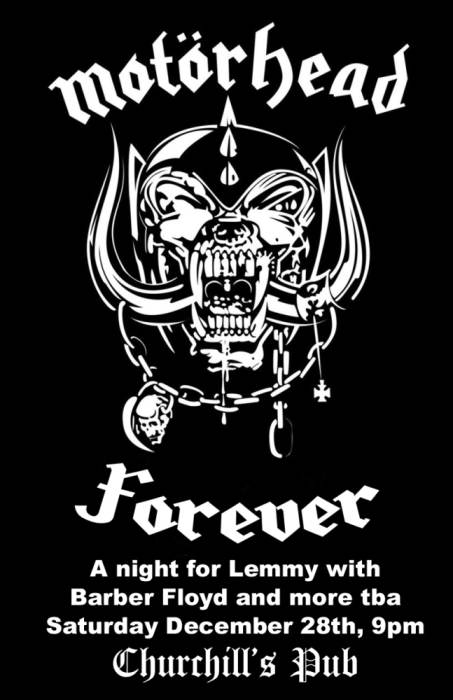 Motörhead Forever, with Barbey Floyd & more tba