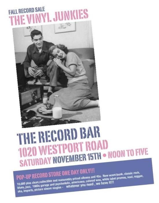Fall Record Sale: The Vinyl Junkies @ recordBar Kansas City