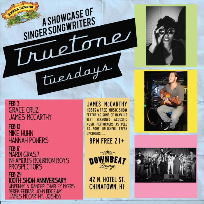 True Tone Tuesday @ Downbeat Lounge Honolulu, HI - February 3rd 2015 8:00 pm