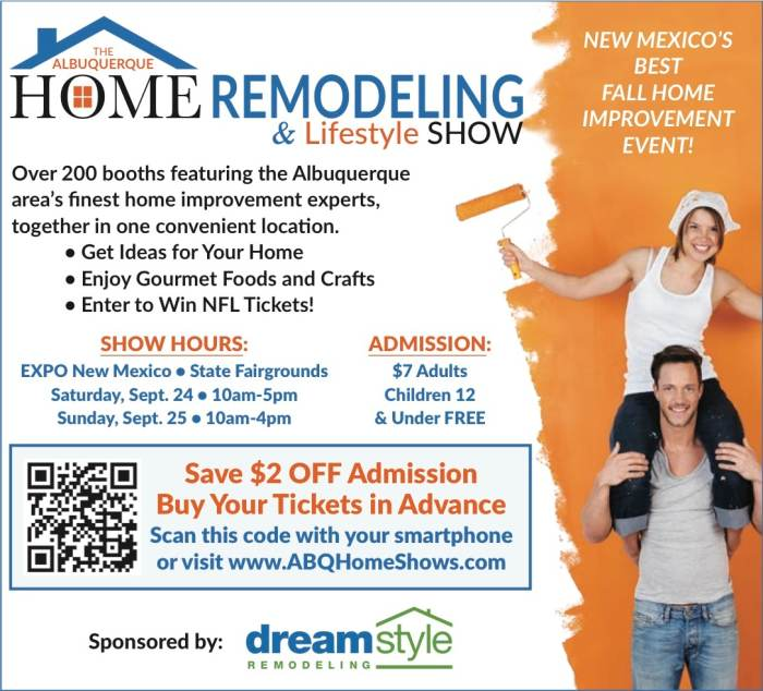 abq home remodeling lifestyle show expo new mexico albuquerque