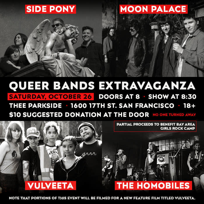 Side Pony, Moon Palace, Vulveeta, The Homobiles