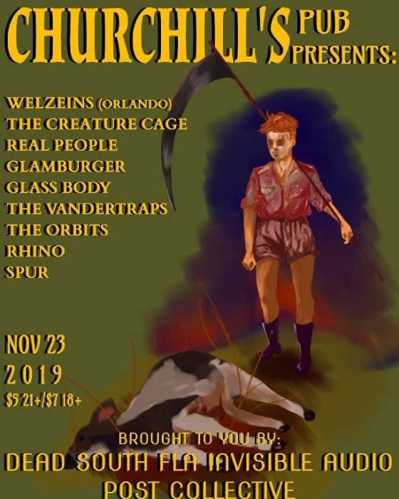 The Welzeins (Orlando), Real People, Spur Rhino, The Creature Cage, Glamburger, Glass Body, The Vandertraps, The Orbits