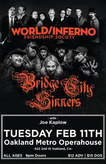 World Inferno Friendship Society / Bridge City Sinners