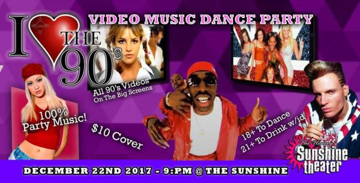 I Love the 90s ABQ Video Music Dance Party!