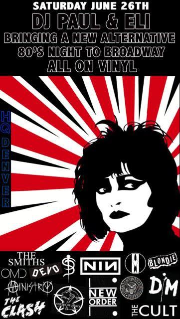 All Vinyl 80s Alternative Night