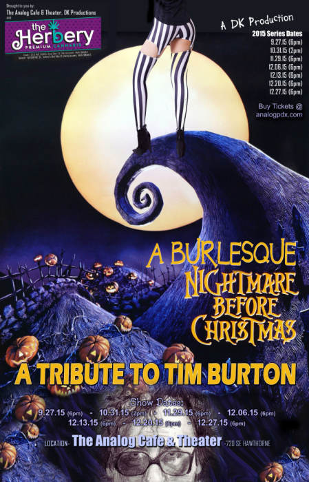 A Burlesque Nightmare Before Christmas (Matinee Showing) 21+ ...