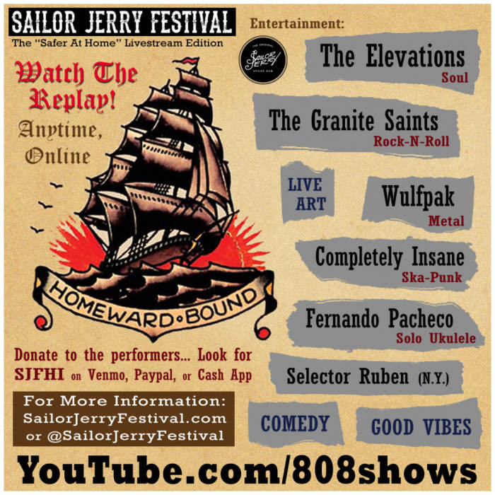 Watch the replay of the Sailor Jerry Festival - livestream edition on youtube!