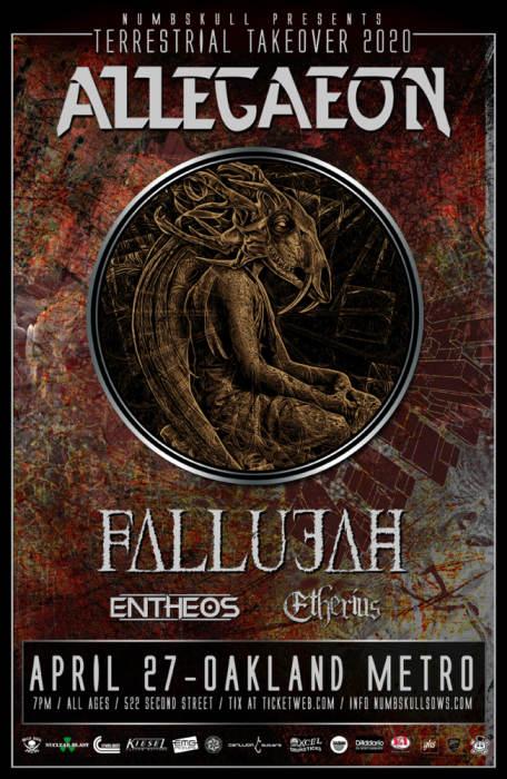 CANCELLED -  Allegaeon, Fallujah, Entheos, Etherius