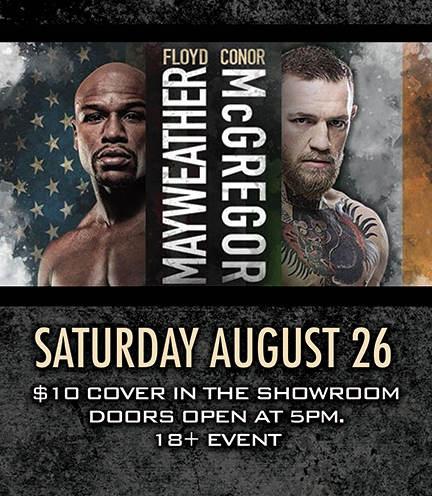 Floyd Mayweather Jr Vs Conor Mcgregor Black Mesa Casino San