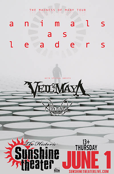 Animals As Leaders * Veil of Maya * Alluvial