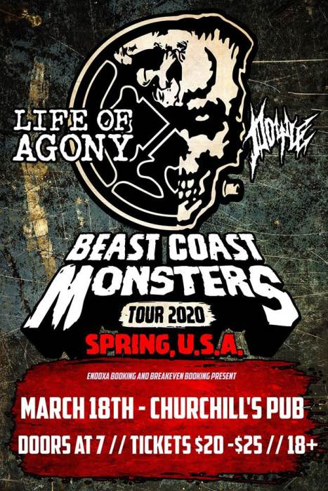 Life of Agony, Doyle, All Hail the Yeti, Ether, Coven