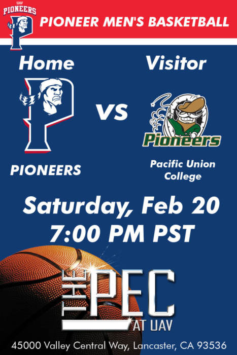 UNIVERSITY OF ANTELOPE VALLEY VS PACIFIC UNION COLLEGE Men ...