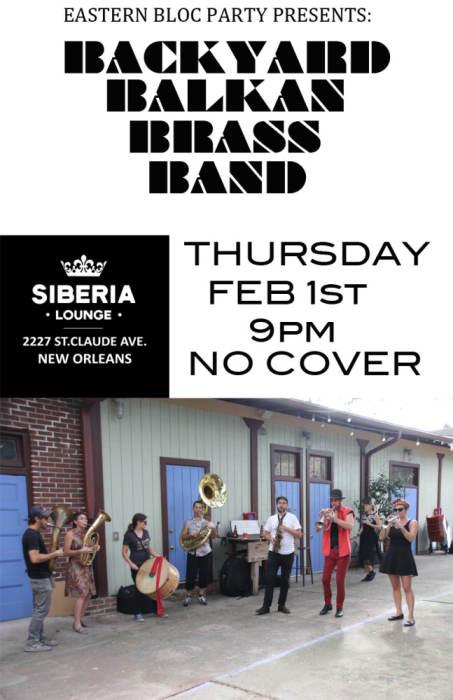 Eastern Bloc Party Presents Backyard Balkan Brass Band