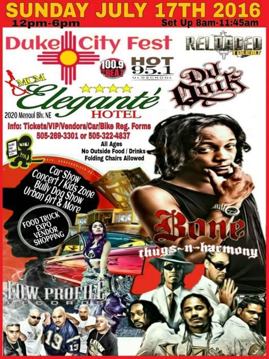 Duke City Fest Car Show Concert BONE THUGS McM Elegante - Car show albuquerque