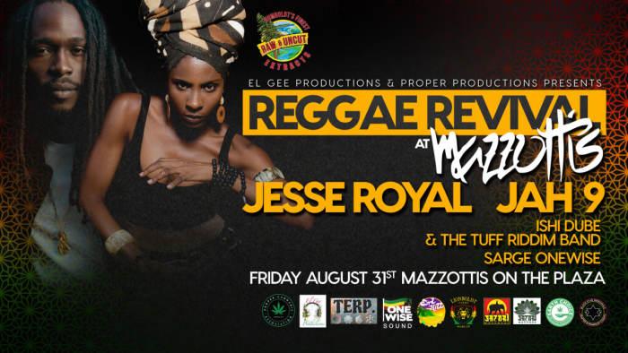 Reggae Revival at Mazzottis Jesse Royal, Jah9 & Dub Treatment @ Mazzottis  Arcata, CA - August 31st 2018 9:00 pm