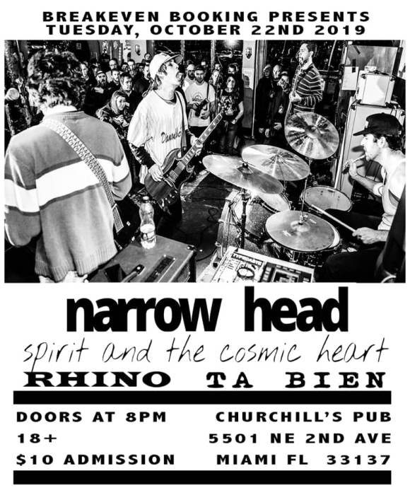 Dollhouse Presents... Narrow Head, Spirit & The Cosmic Heart, Rhino, & Ta Bien