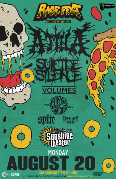Attila * Suicide Silence * Volumes * Rings of Saturn * Spite * Cross Your Fingers
