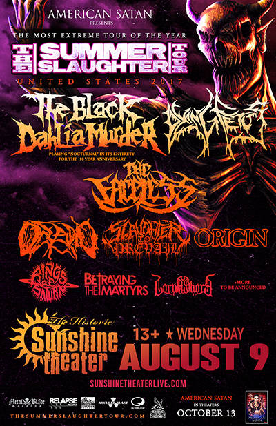 The Summer Slaughter Tour 2017