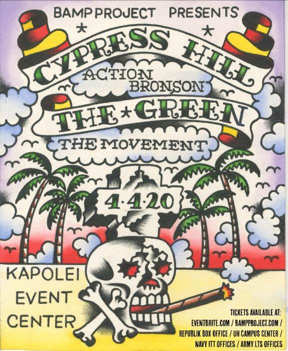 Cypress Hill, The Green, Action Bronson & The Movement - canceled