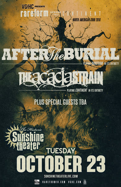 After The Burial * The Acacia Strain