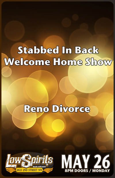 stabbed in back welcome home show reno divorce low spirits