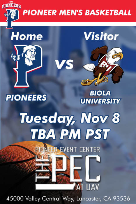 UNIVERSITY OF ANTELOPE VALLEY vs BIOLA UNIVERSITY MEN'S ...
