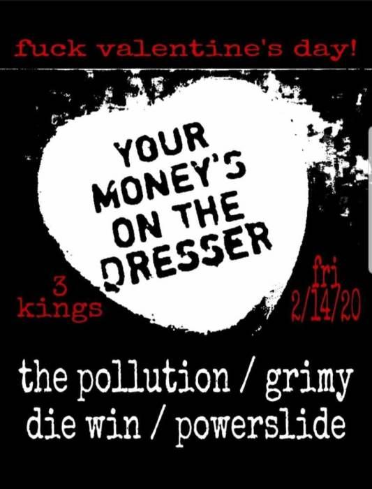 THE POLLUTION, GRIMY, DIE WIN, POWERSLIDE
