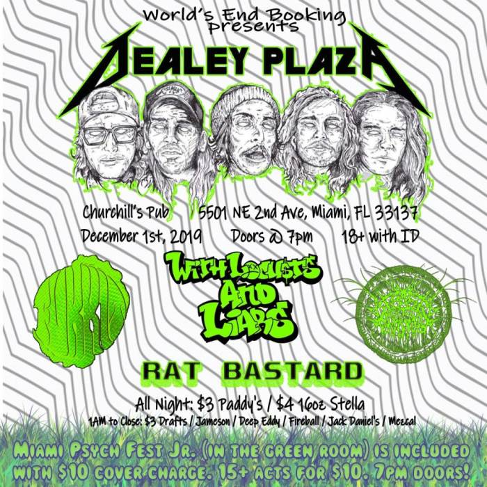 Psych Fest Junior with Dealey Plaza, Locusts & Liars, Rat Bastard, and more