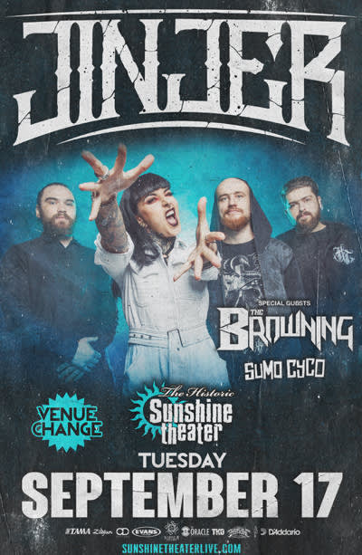 Jinjer * The Browning * Sumo Cyco