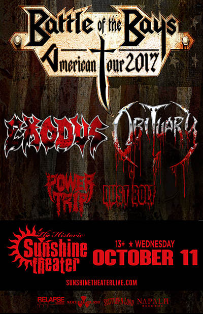 Exodus * Obituary * Power Trip * Dust Bolt