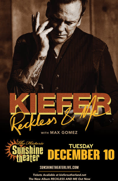 Kiefer Sutherland - Reckless & Me Tour