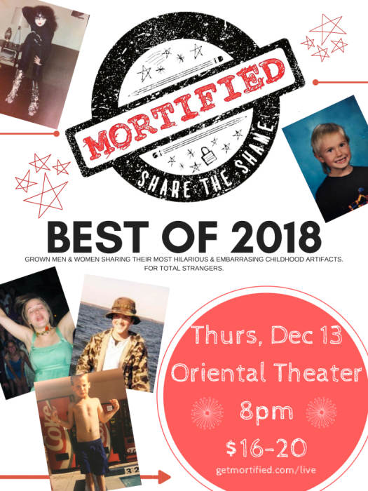 Mortified Live Best Of 2018 The Oriental Theater Denver