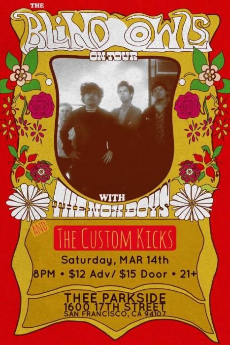 The Blind Owls (TX), The Nox Boys (PA) & The Custom Kicks