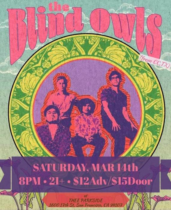 The Blind Owls (TX), The Nox Boys (PA), The Night Times (LA) & TBA