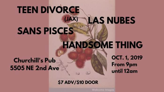 Teen Divorce, Las Nubes, Sans Pisces, Handsome Thing