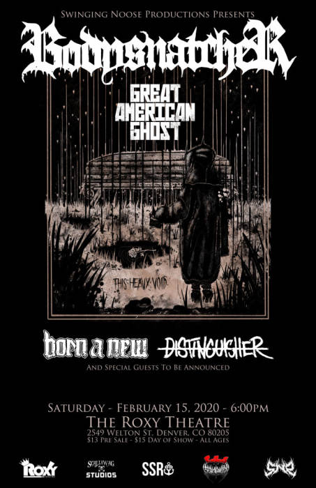 Bodysnatcher, Great American Ghost, Born a New, Distinguisher + More