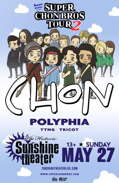 CHON * Polyphia * TTNG * Tricot