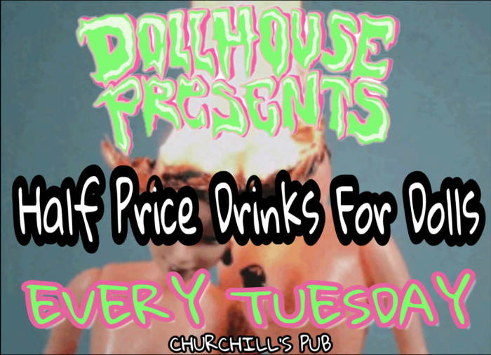 Dollhouse Presents... 1/2 off drinks for dolls